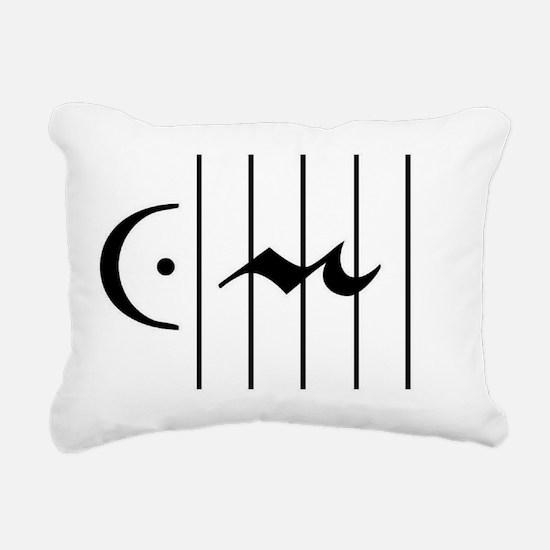 restferm_cardx3rot Rectangular Canvas Pillow