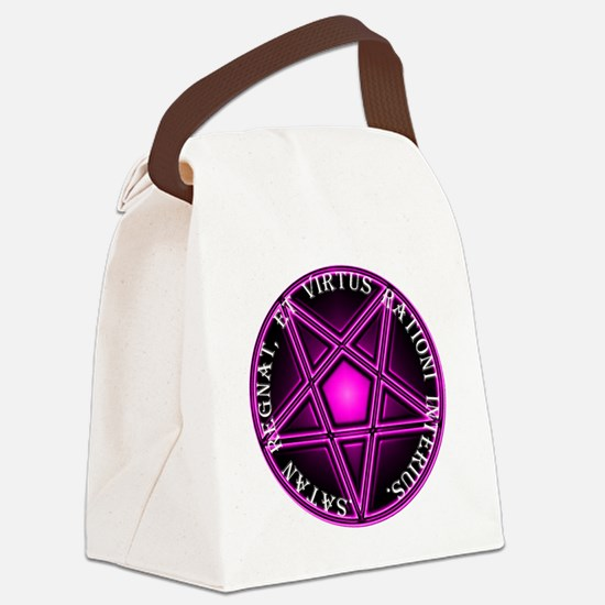 Lee-Pink Canvas Lunch Bag