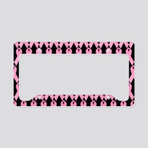 PinkRibbonPbBeBag License Plate Holder