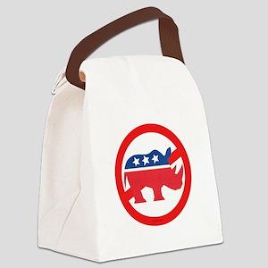 Pol 4A No More 3 T  copy Canvas Lunch Bag