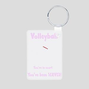 Volleyball served dark 300 Aluminum Photo Keychain