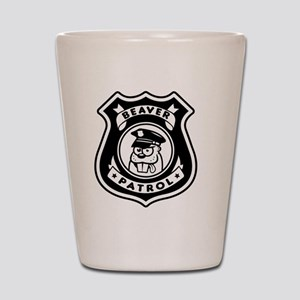 Beaver Patrol Shot Glass