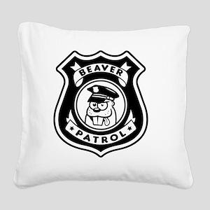 Beaver Patrol Square Canvas Pillow