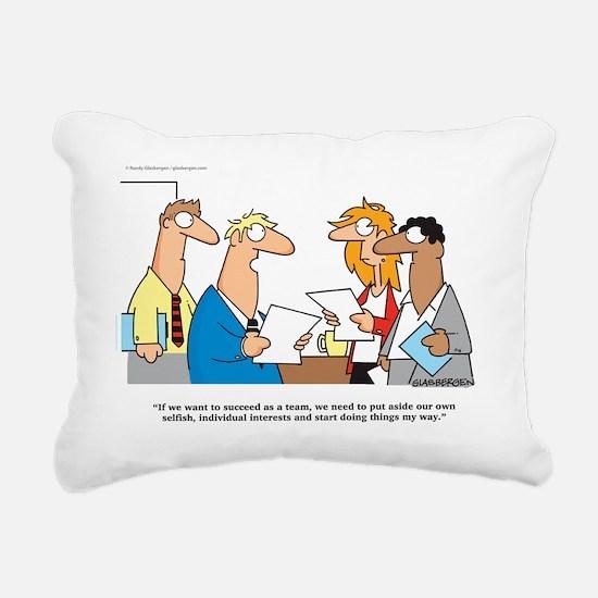 teamwork Rectangular Canvas Pillow