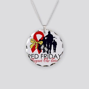 SupportRedFridays23 Necklace Circle Charm