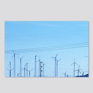 A wind farm generates ele Postcards (Package of 8)