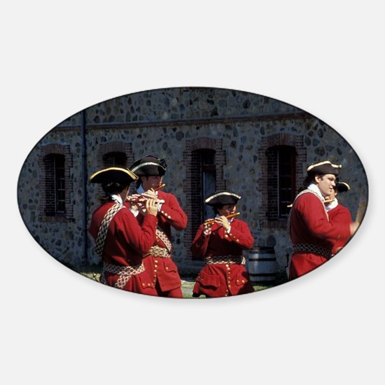 Soldiers playing music Nova Scotia, Sticker (Oval)