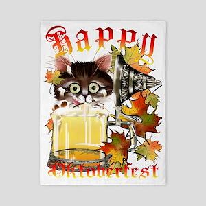 Happy Oktoberfest Beer Kitty Trans Twin Duvet