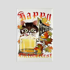 Happy Oktoberfest Beer Kitty Tran Rectangle Magnet
