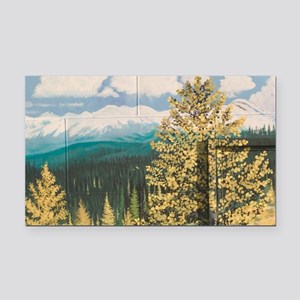 Kimberly. Street Mural with M Rectangle Car Magnet