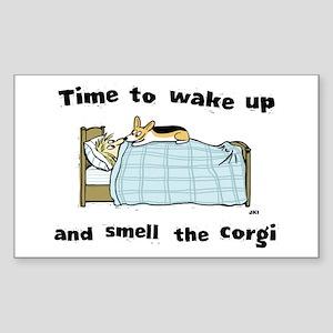 Wake Up & Smell The Corgi Sticker