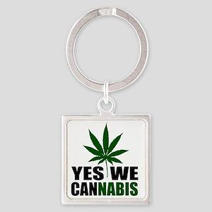 CANNABIS$$ Square Keychain