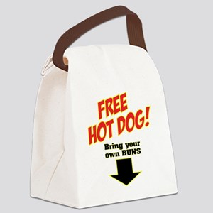 FREE HOT DOG2 Canvas Lunch Bag