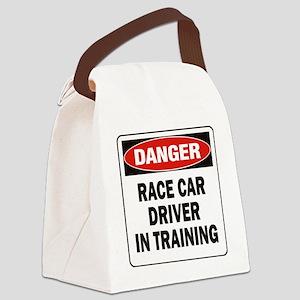 DN RACE CAR DRVR TRAIN Canvas Lunch Bag