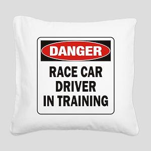 DN RACE CAR DRVR TRAIN Square Canvas Pillow