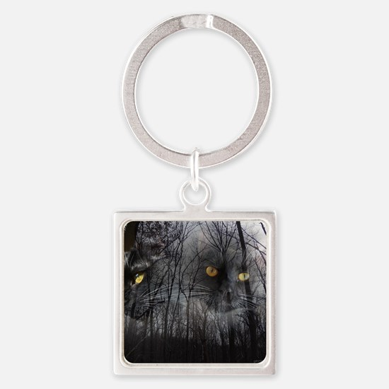 Enchanted forest Square Keychain