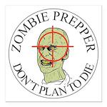 Zombie Prepper Square Car Magnet 3