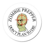 Zombie Prepper Round Car Magnet