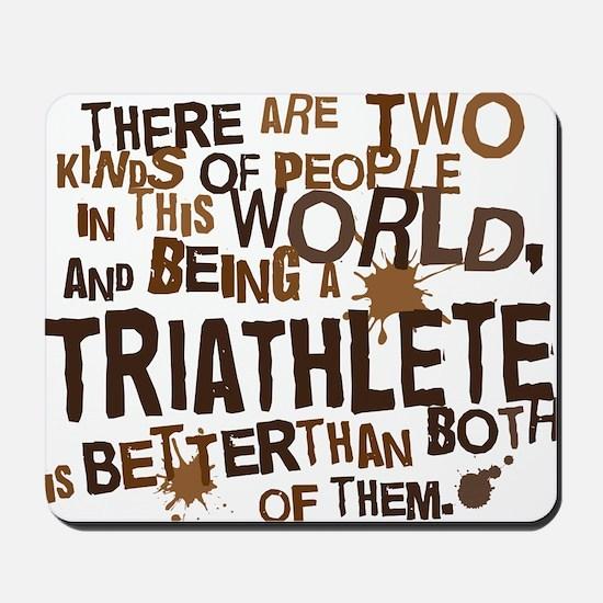 triathlete_brown Mousepad