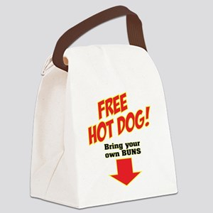 FREE HOT DOG Canvas Lunch Bag