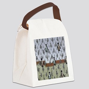raining penguins Canvas Lunch Bag