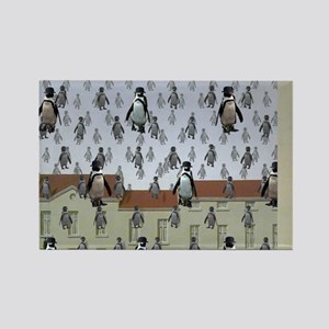 raining penguins Rectangle Magnet