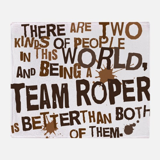 team_roper_brown Throw Blanket