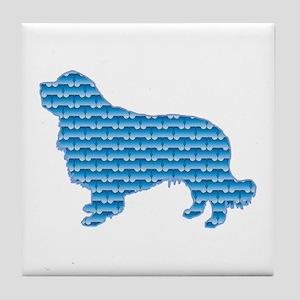 Bone Clumber Tile Coaster