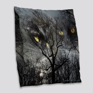 Enchanted forest Burlap Throw Pillow
