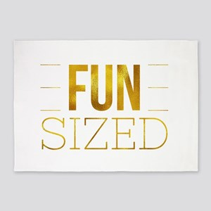 Fun Sized Motivational Gold Faux Fo 5'x7'Area Rug