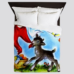 Goat in Laundry Queen Duvet