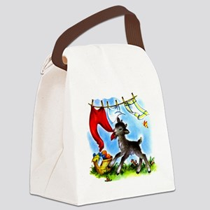 Goat in Laundry Canvas Lunch Bag