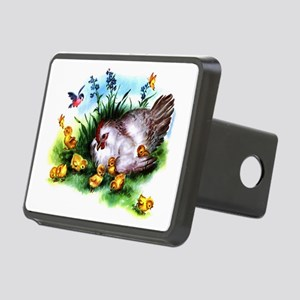 Mother Hen and Chicks Rectangular Hitch Cover