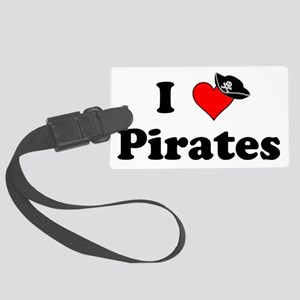 Heart-Pirates_Hat Large Luggage Tag
