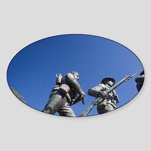 Charlottetown. War memorial on the  Sticker (Oval)