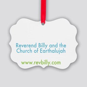 Earth Singer Church Back Picture Ornament
