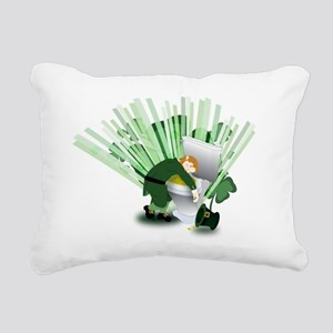 Passed Out Leprechaun Rectangular Canvas Pillow