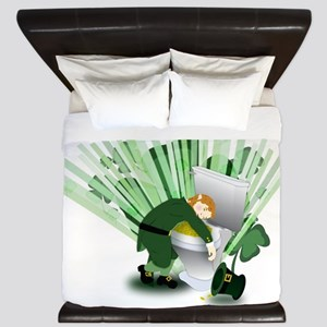 Passed Out Leprechaun King Duvet