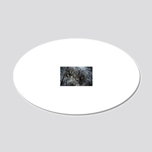 Enchanted forest 20x12 Oval Wall Decal