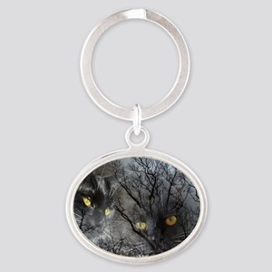 Enchanted forest Oval Keychain