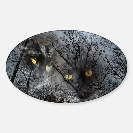 Enchanted forest Sticker (Oval)