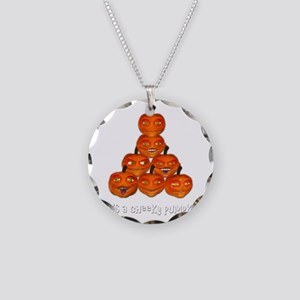 cheekypumpkinwht Necklace Circle Charm