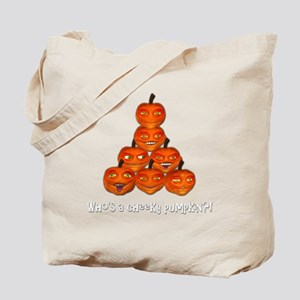 cheekypumpkinwht Tote Bag