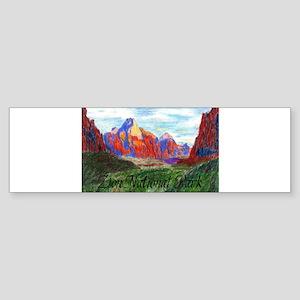 Zion: Down Canyon Bumper Sticker