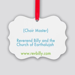 Earth Church Back Chorfuhrer Picture Ornament