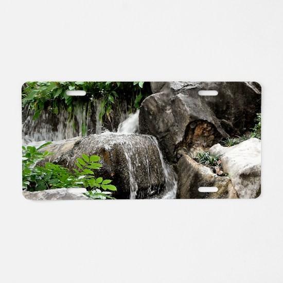 Waterfall Aluminum License Plate