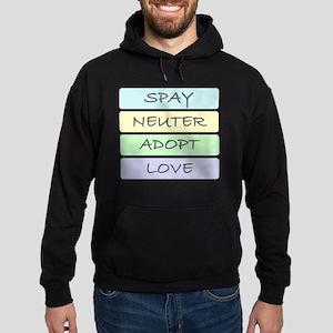 spay neuter adopt love 1-001 Hoodie (dark)