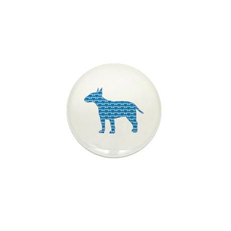 Bone Bull Terrier Mini Button (100 pack)