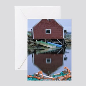 Peggy's Cove. Reflection of fish she Greeting Card
