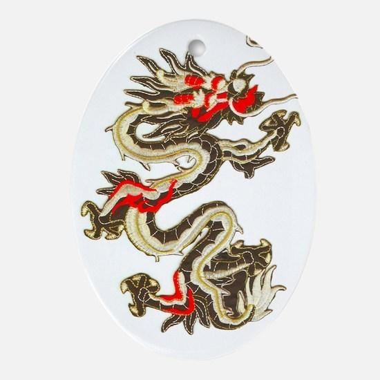 dragon-3 Oval Ornament
